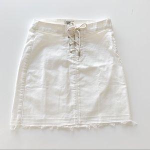 JCrew White Denim Mini Skirt